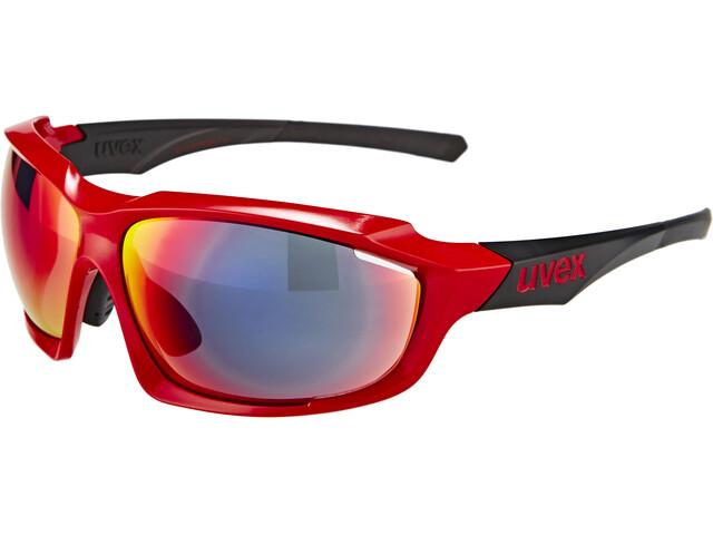 UVEX sportstyle 710 Cykelglasögon röd/svart